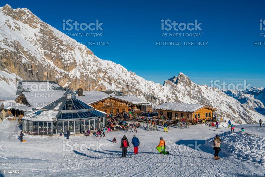 Ski Resort Garmisch-Partenkirchen, Bayern (Bavaria) Germany stock photo