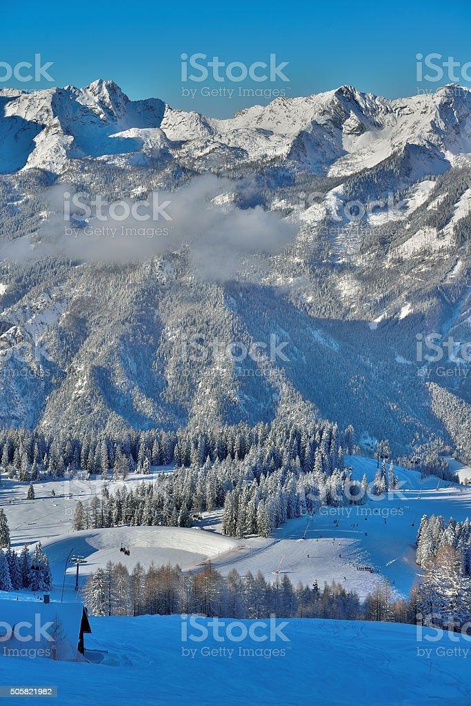 Ski Ressort Hinterstoder in Upper Austria stock photo