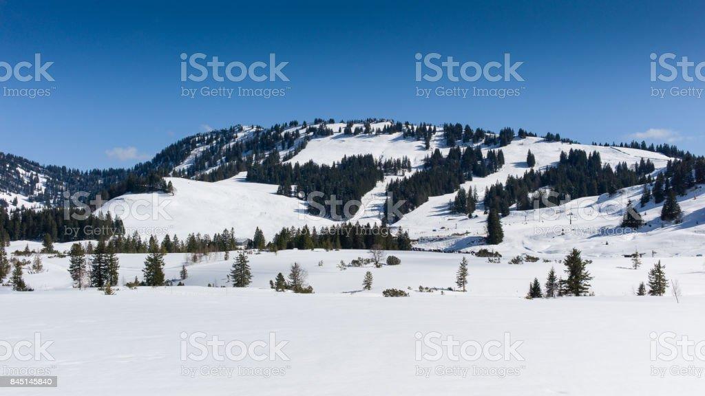 Ski Resort Hochhaedrich Bregenzwald stock photo