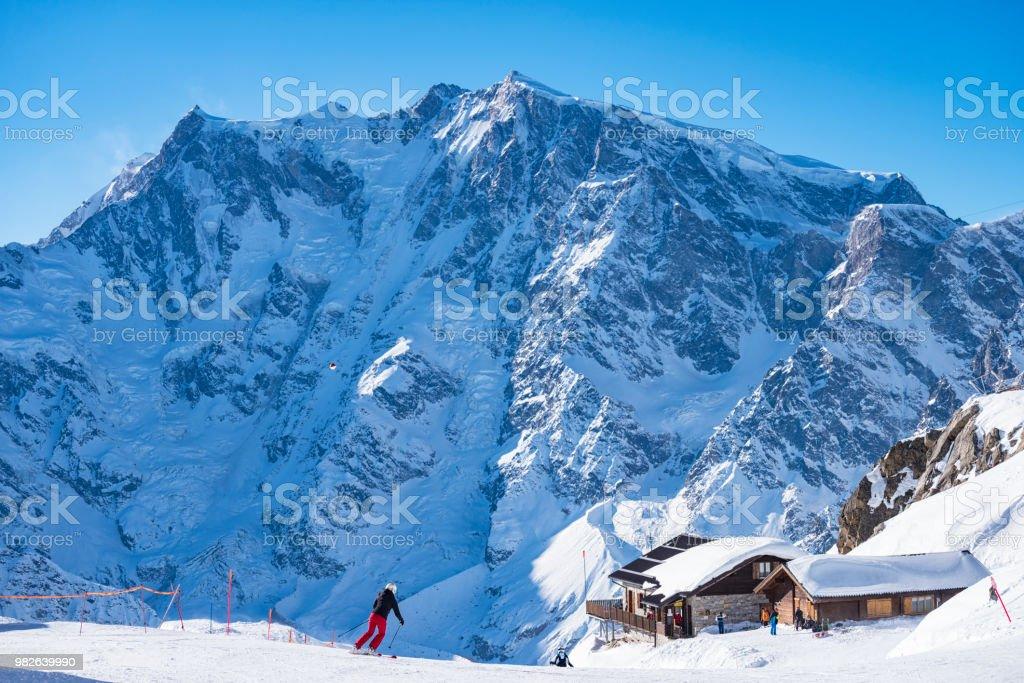 Si la station de ski Macugnaga photo libre de droits