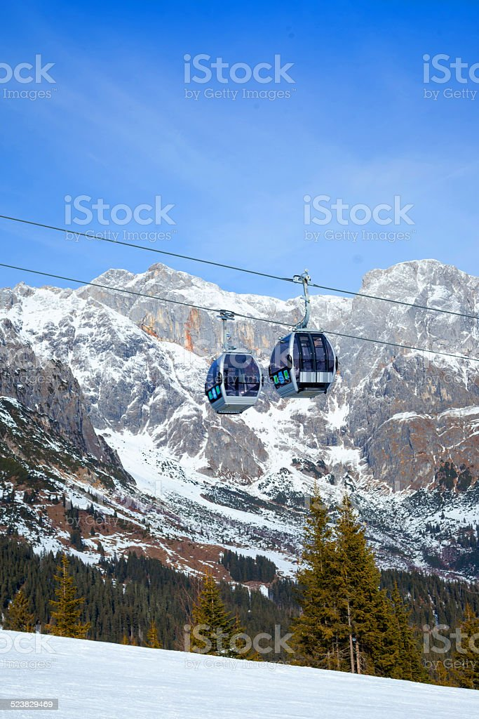 Ski resort in Austria stock photo