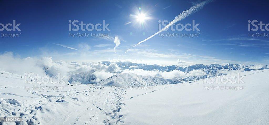 Ski resort in Georgia royalty-free stock photo