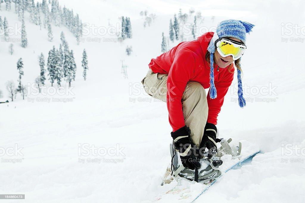 Ski resort in India stock photo