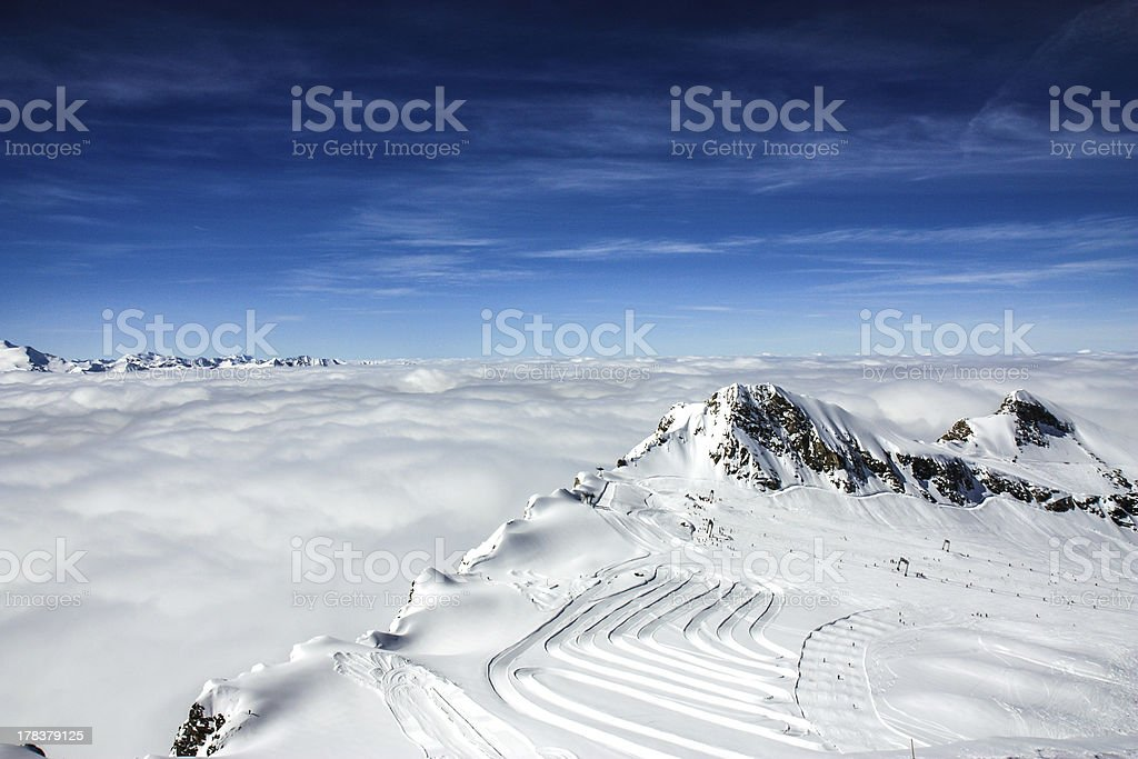 ski resort kaprun stock photo