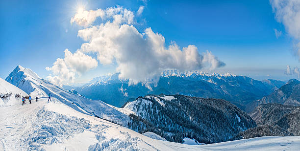 Ski resort Krasnaya Polyana . Tours and travel to Russia .Sochi is a favorite place . sochi stock pictures, royalty-free photos & images