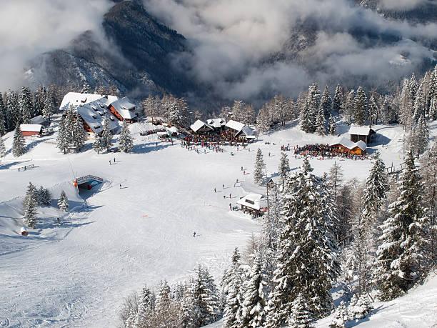 Ski resort Krvavec stock photo