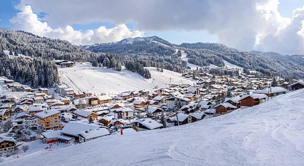 Skigebiet Les Gets in den französischen Alpen – Foto