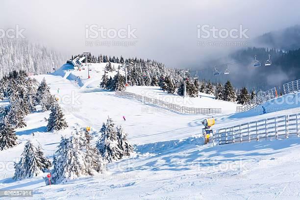 Photo of Ski resort, lift, mountains panorama