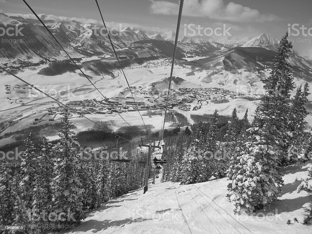 Ski Resort of Crested Butte stock photo