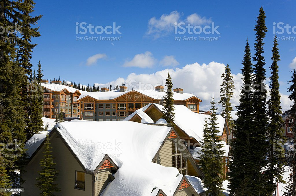 Ski Resort stock photo