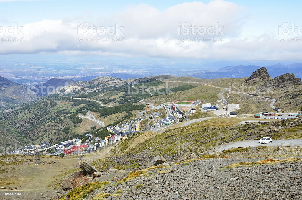 Ski resort Pradollano in the Andalucian Sierra Nevada royalty-free stock photo