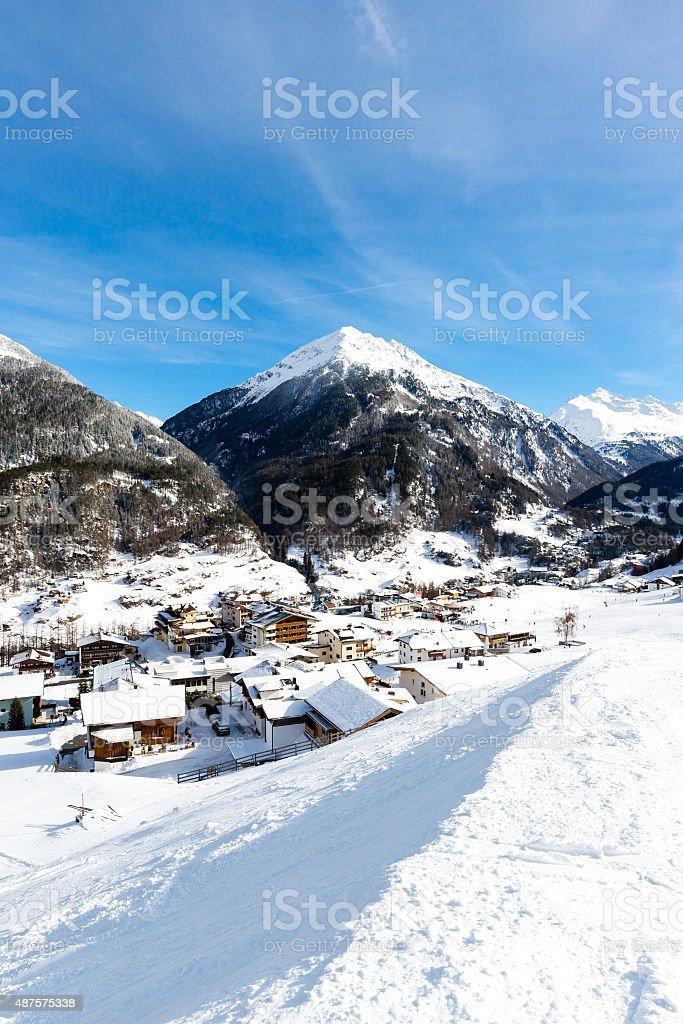 Ski resort Soelden stock photo