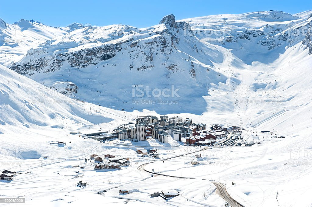 Ski resort Tignes stock photo
