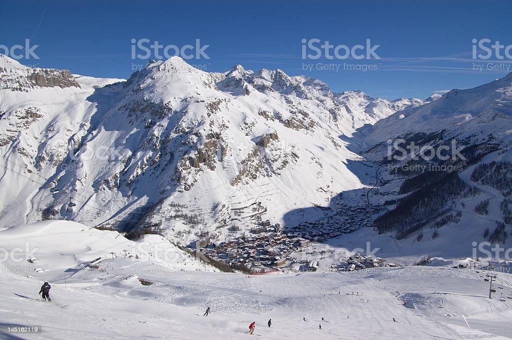 ski resort  top view royalty-free stock photo