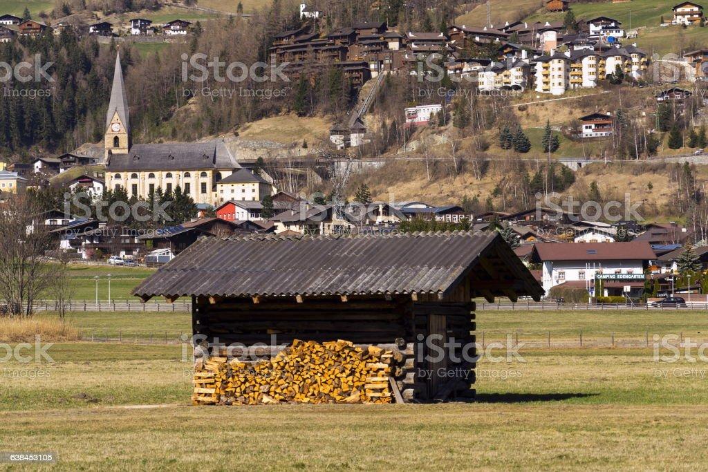 Ski resort town Matrei in Osttirol, Austria stock photo