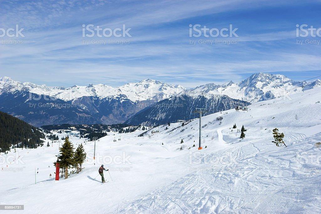 Complejo turístico de esquí valley foto de stock libre de derechos