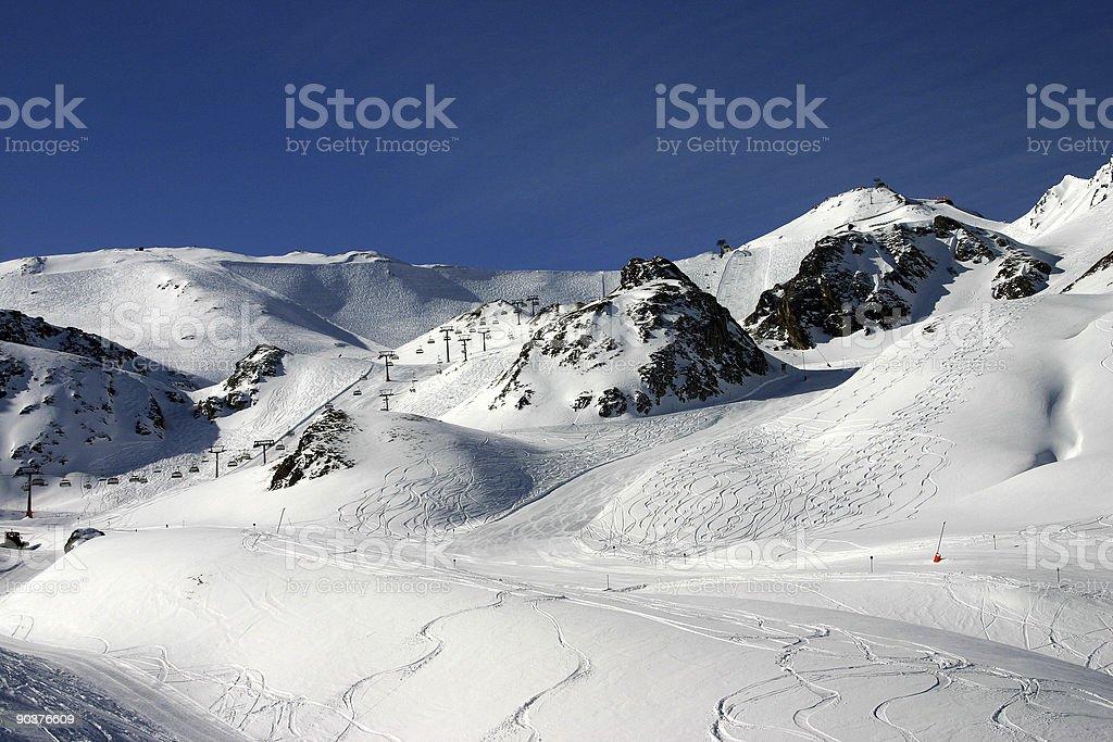 ski routes royalty-free stock photo