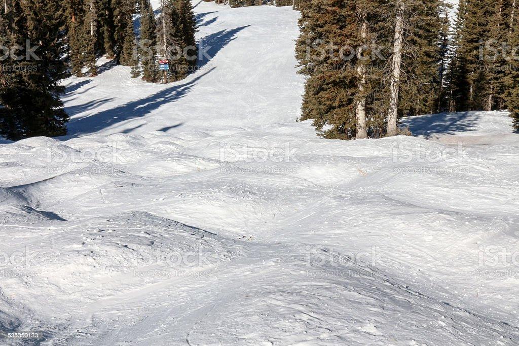 Ski Run - Freestyle Terrain Horizontal stock photo