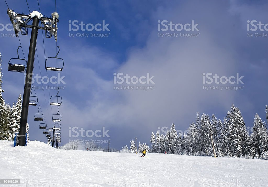 Ski Run royalty-free stock photo