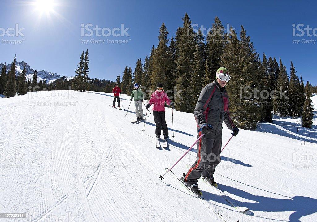 Ski school royalty-free stock photo
