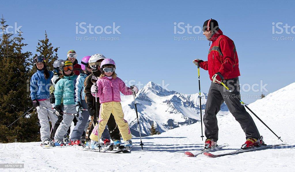 Ski School stock photo