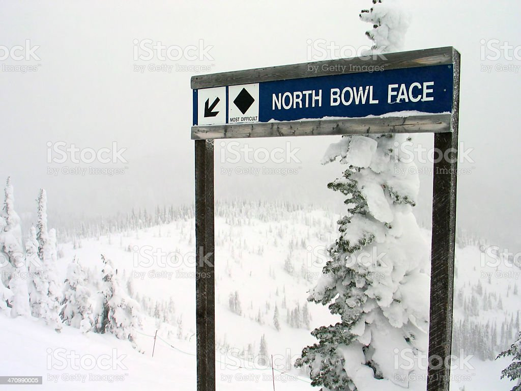 Ski Sign 1 stock photo