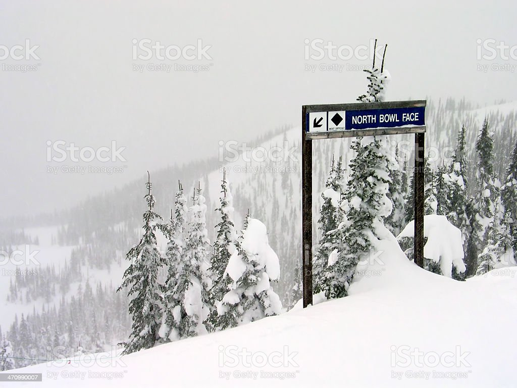 Ski Sign 2 stock photo