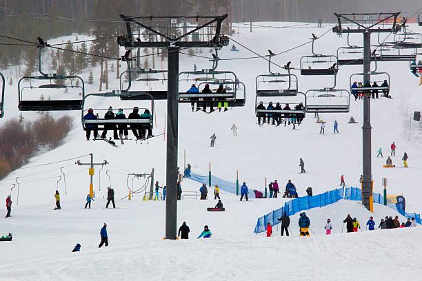 Ski Slope at Breckenridge stock photo