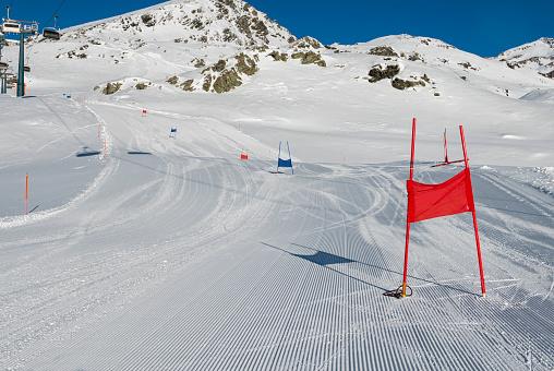 Ski slope in the alps