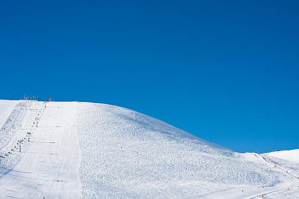 Ski Slope in the French Alps stock photo