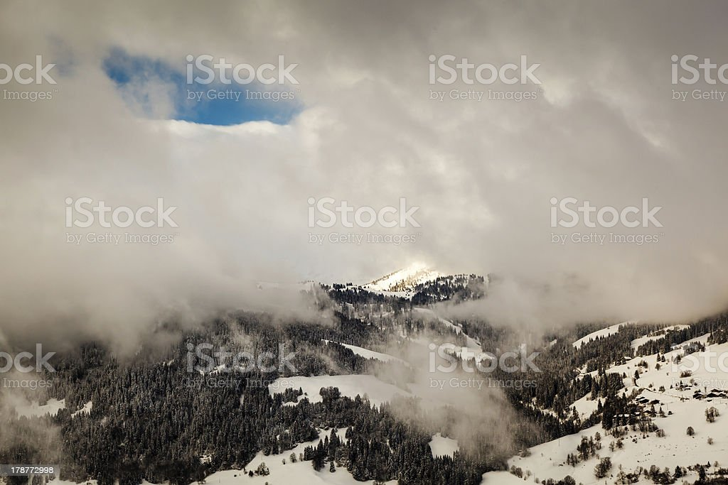 Ski Slope near Megeve in French Alps, France royalty-free stock photo
