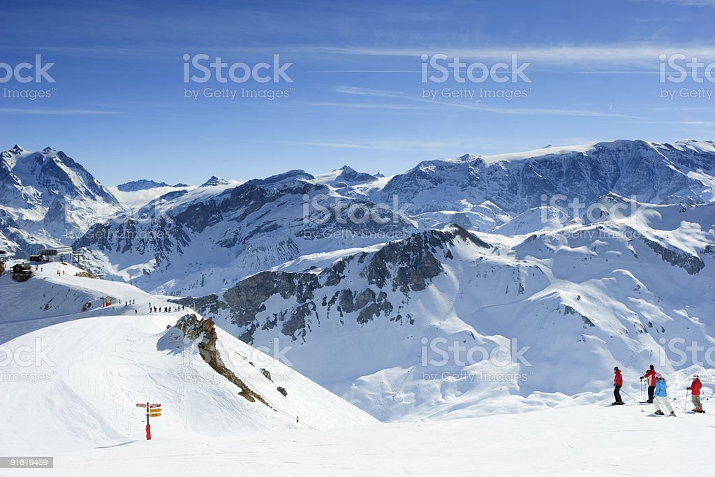 Ski slope stock photo