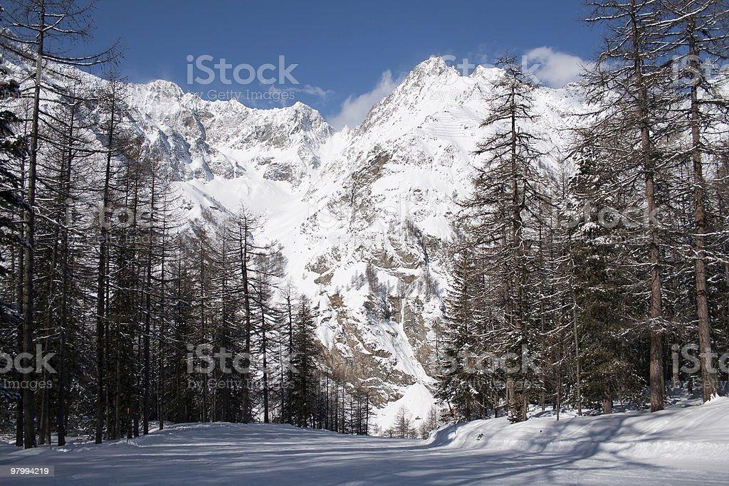 ski slope royalty free stockfoto