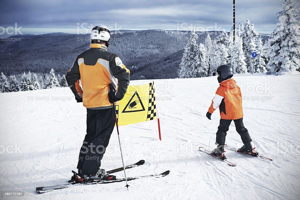 Ski slope sign royalty-free stock photo