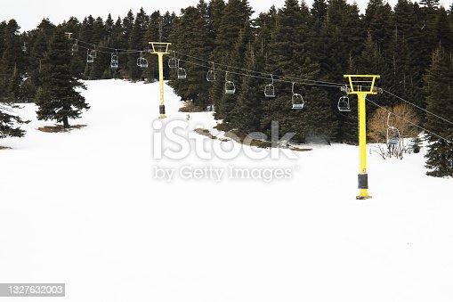 istock Ski slopes and ski lifts in ski resort. 1327632003