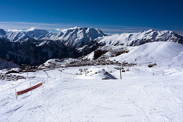 Ski Slopes in Alpe d'Huez​​​ foto