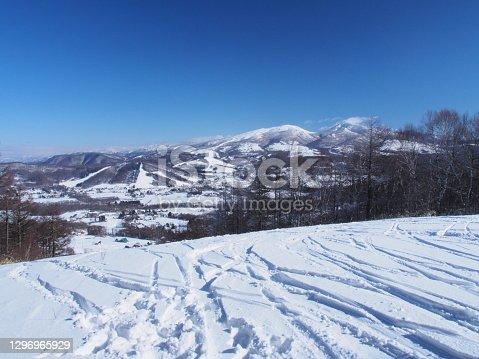 Ski slopes on the Sugadaira Highlands,Nagano