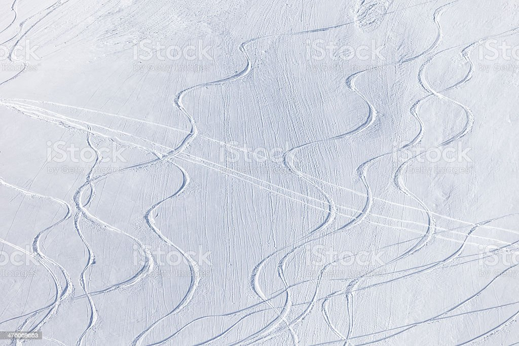 Ski slopes royalty-free stock photo