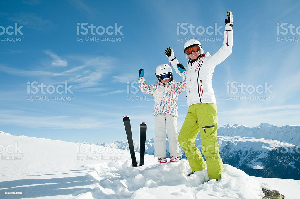 Ski, snow, sun and fun royalty-free stock photo