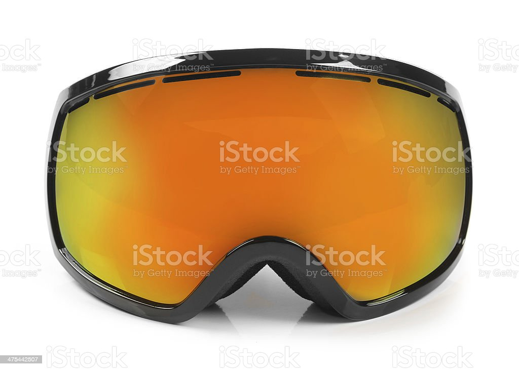 ski snowboard protective goggles isolated on white stock photo