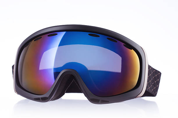 Ski sport glass, isolated on white Ski sport glass, isolated on white background ski goggles stock pictures, royalty-free photos & images
