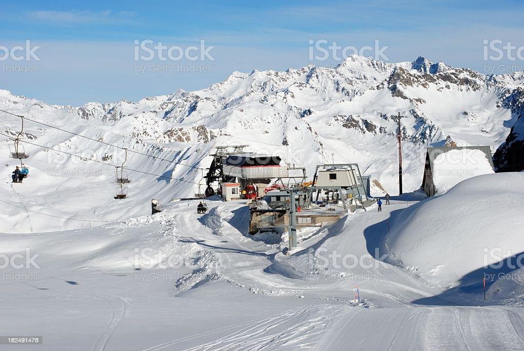 Ski station in Dolomiti Alps - Passo Tonale royalty-free stock photo