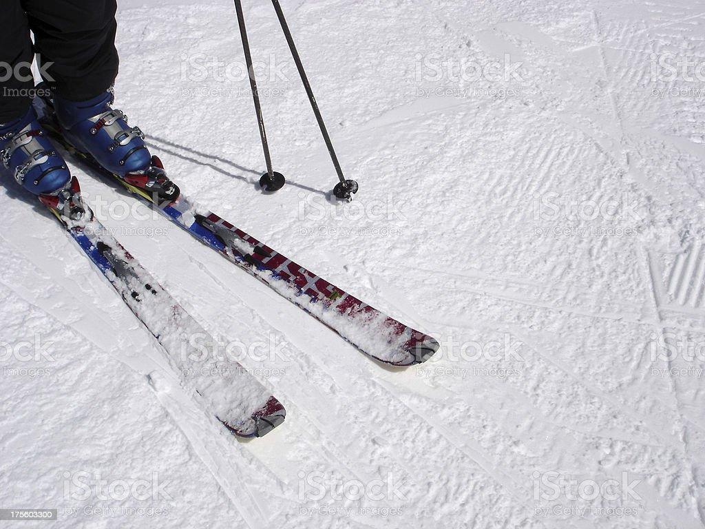 Ski Tips royalty-free stock photo