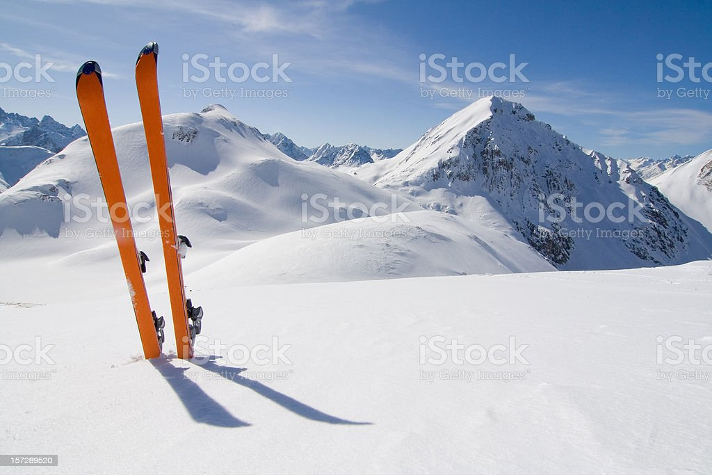 ski tour stock photo