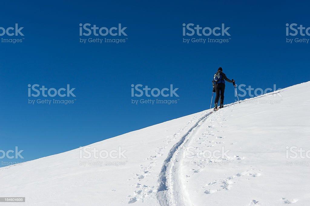 Ski touring royalty-free stock photo