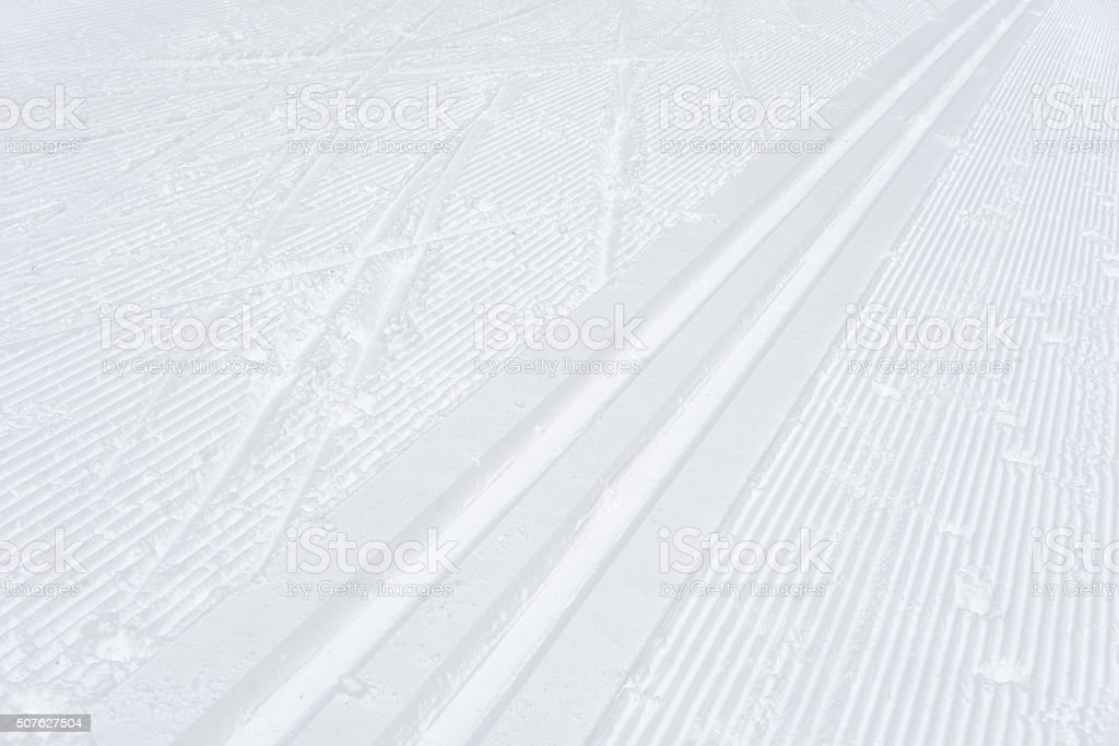 ski track, abstract background stock photo