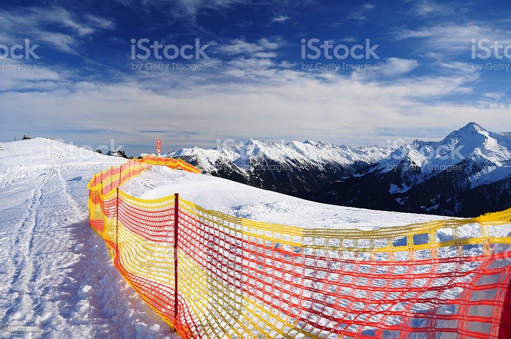 ski track Lizenzfreies stock-foto