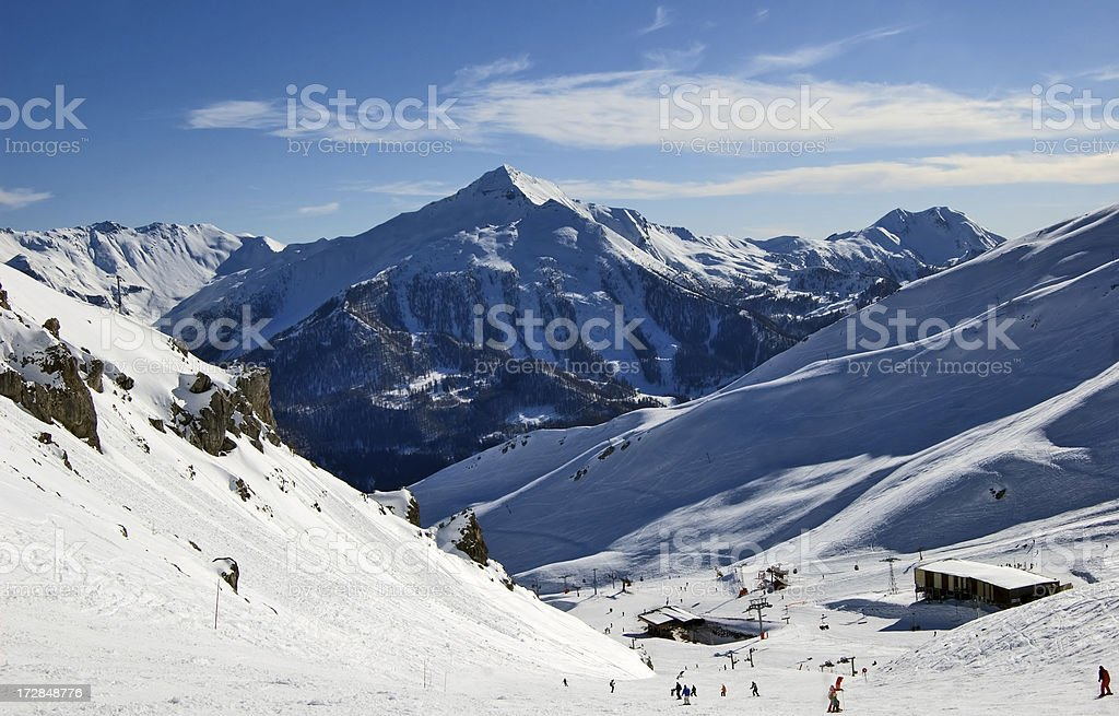 Ski track royalty-free stock photo
