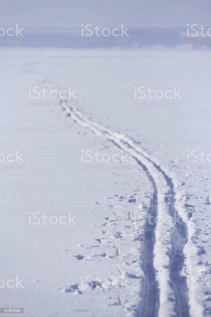 Ski track. royalty-free stock photo