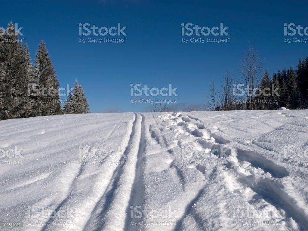 ski track royalty-free stock photo